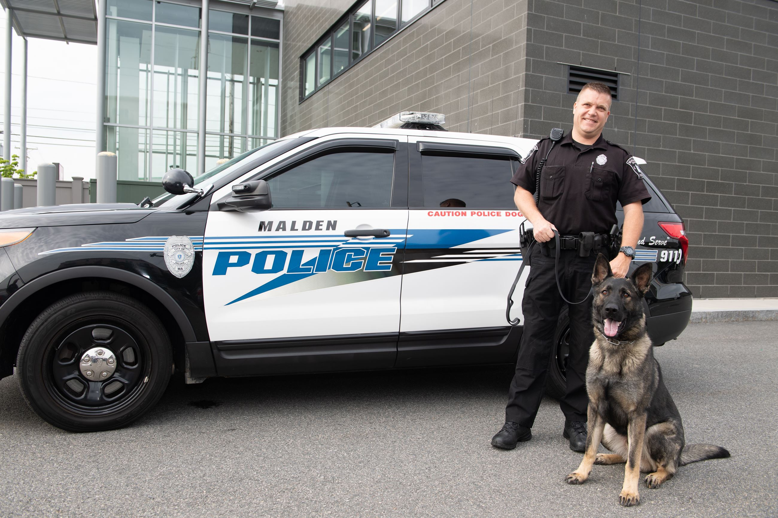 Malden police officer and canine