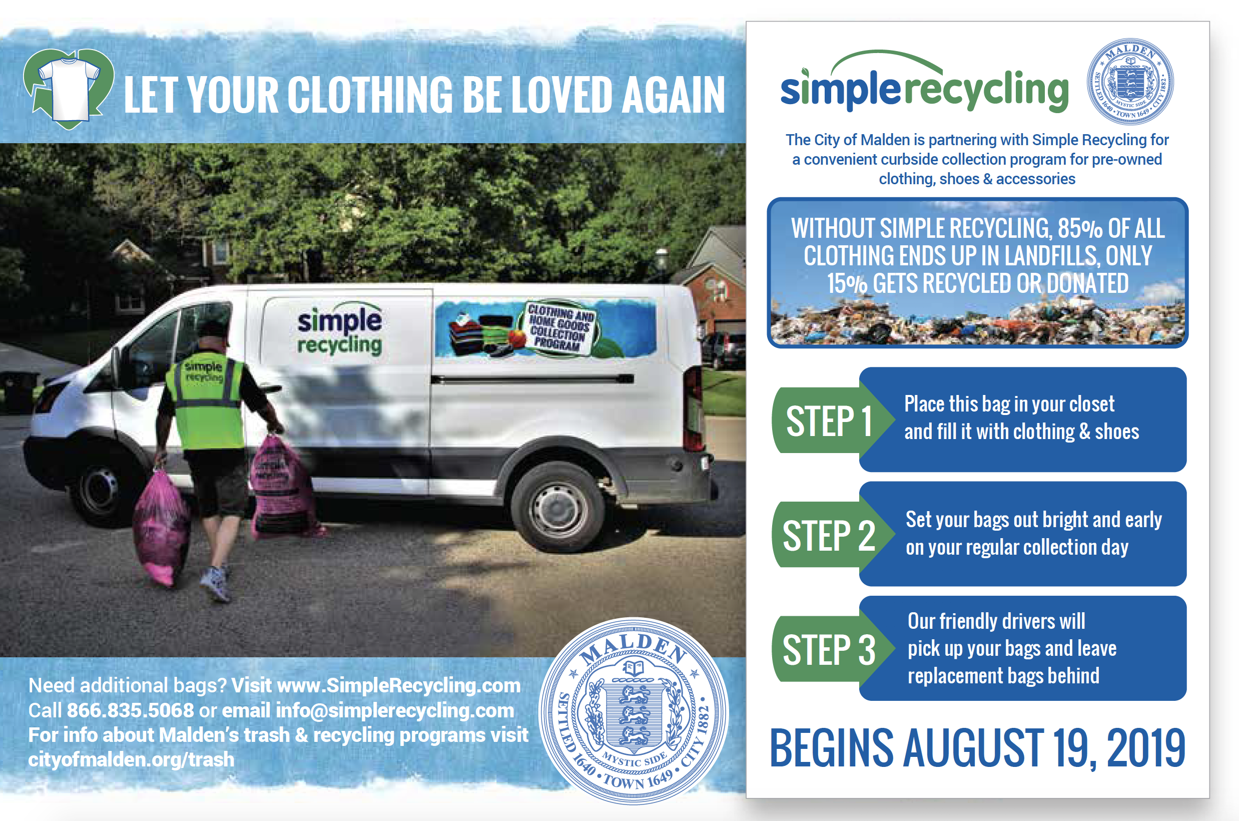 Simple Recycling Informational Flyer