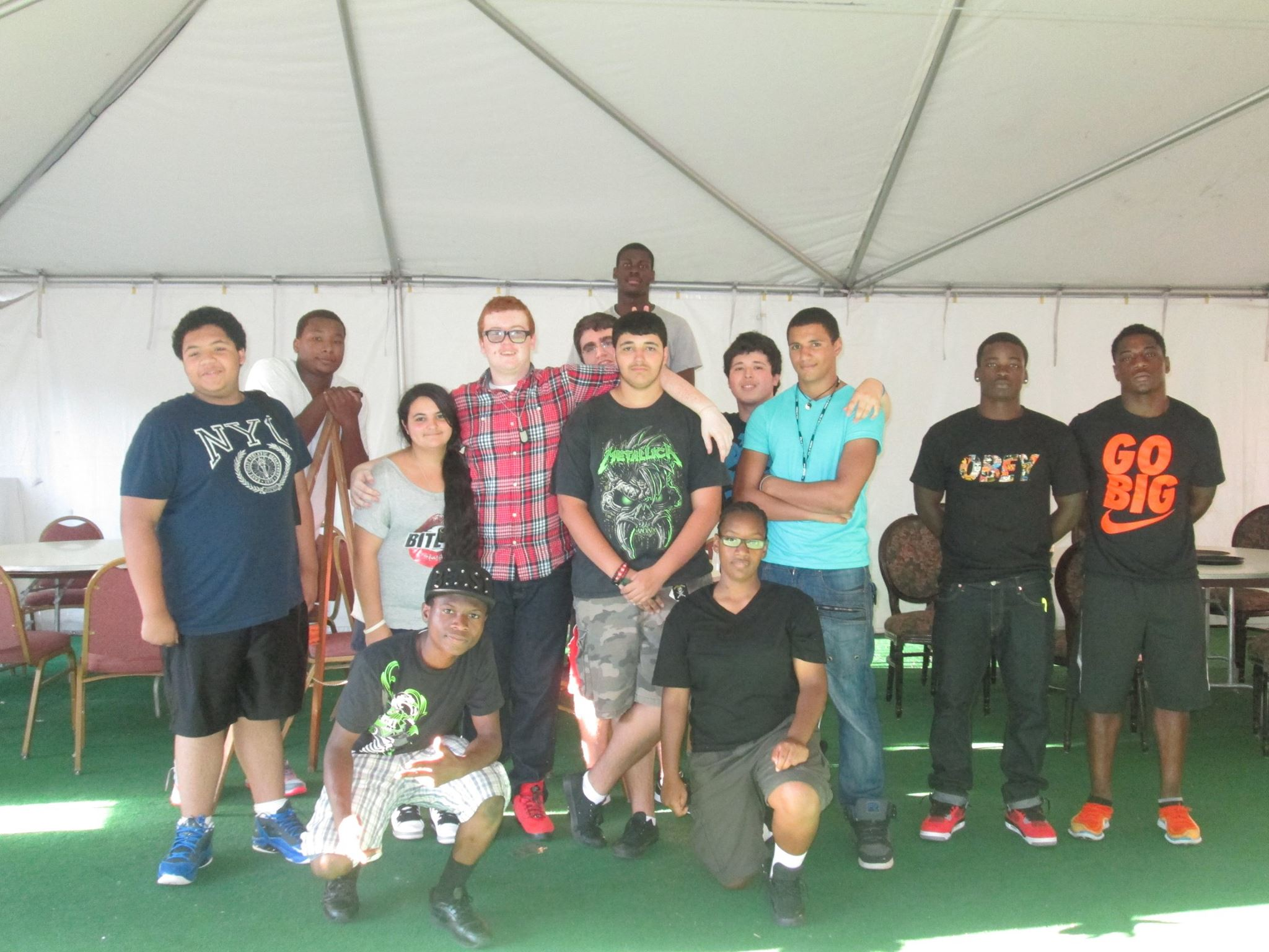 Teen Volunteers for Mayors Cookout 2014