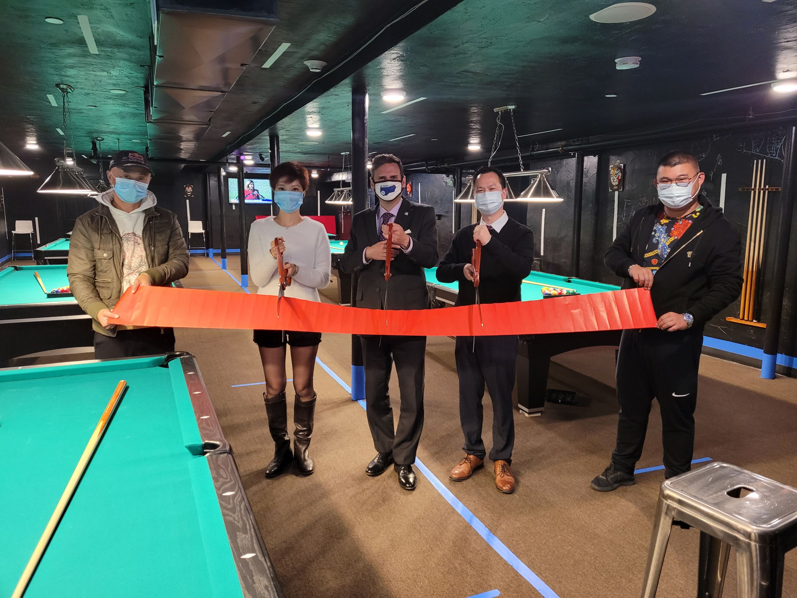 Bio Ge Pool Hall Ribbon Cutting