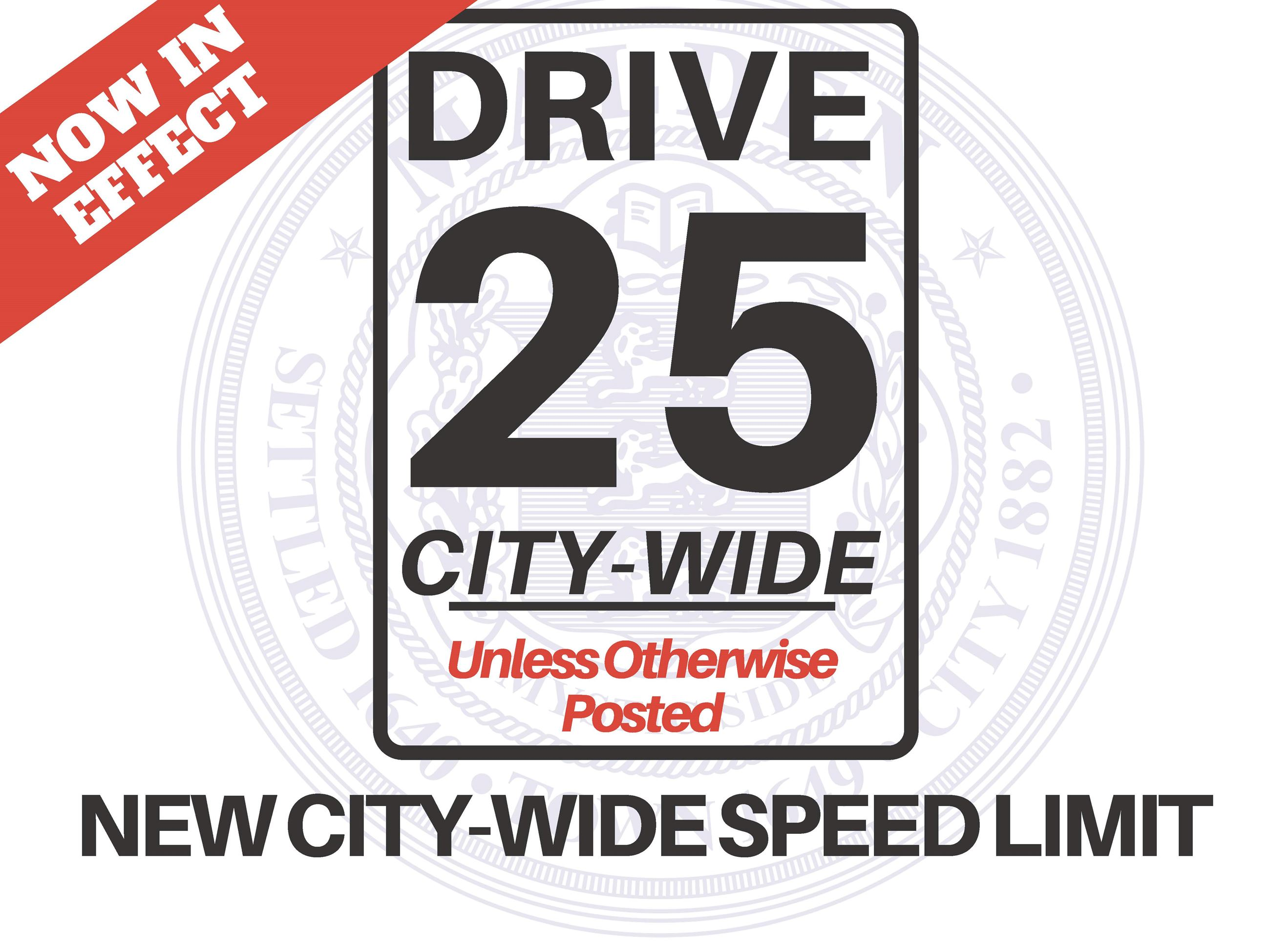 Drive 25 Lawn sign