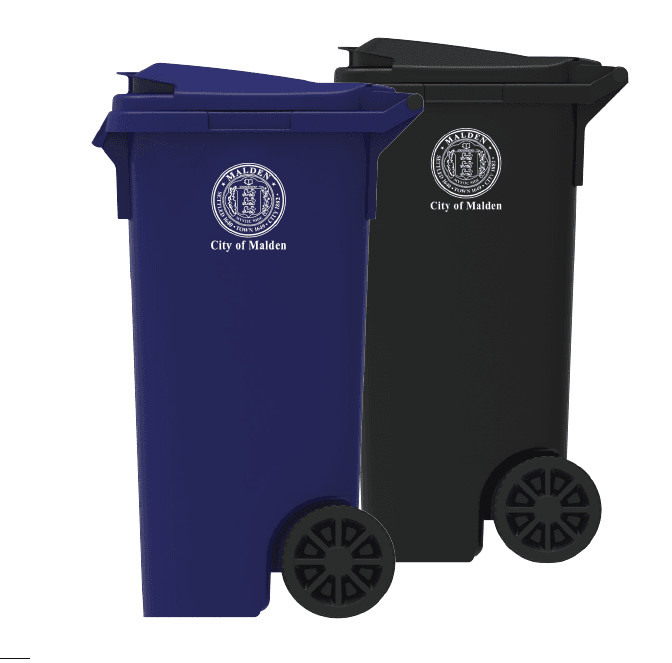 New Trash and recycling carts