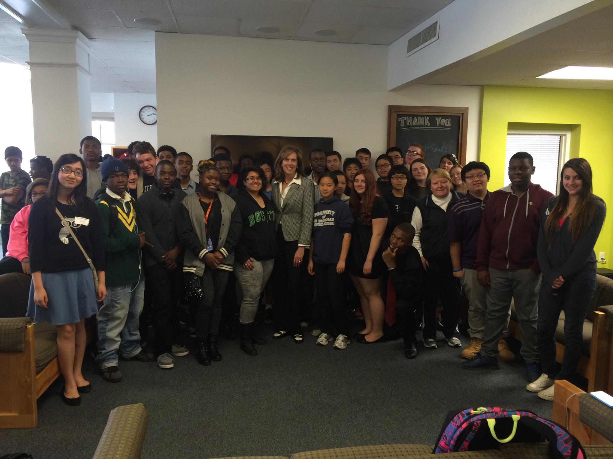 Katherine Clark Speaks with Teens