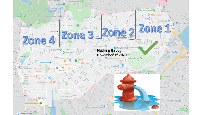 2020 Fire Hydrant Flushing Map Schedule